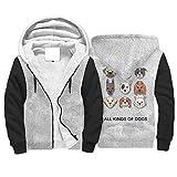 Sudadera deportiva con capucha de forro polar con cremallera y ajuste clásico para hombres y mujeres