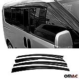 OMAC Front & Rear Side Door Window Smoke Air Rain Ventvisor Wind Deflector Guard Window Visors 2 Pcs forDodge Ram Promaster City 2015-2020