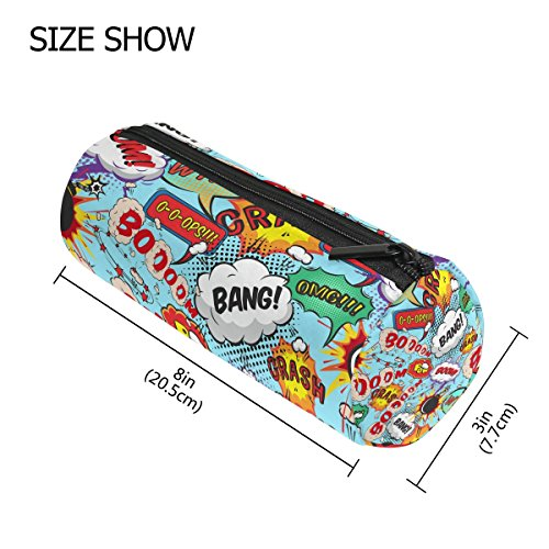 TIZORAX - Brazalete con diseño de burbujas Boom! Estuche para lápices, bolígrafo, bolsa con cremallera, organizador de monedas, bolsa de maquillaje, para mujeres, adolescentes, niñas, niños y niños