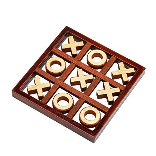Sommer's Laden Noughts and Crosses Game, 3D-Holzspiel mit X und O, klassisches Familienbrettspielset für Kinder und Erwachsene, 2-Spieler-Spiel