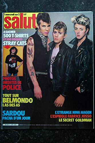 Salut ! 177 7 au 20 juillet 1982 Stray Cats - Police - Belmondo - Sardou - Goldman - Nina hagen Poster Taxi Girl