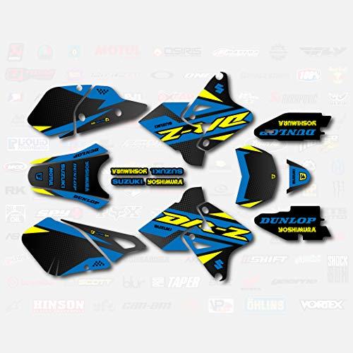 Blue Yellow Shift Graphics Kit fits Suzuki DRZ400SM Drz400s drz400 Supermoto DRZ