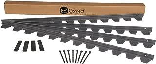 Dimex E-Z Connect Plastic Multipurpose Paver and Landscape Edging Project Kit, 24-Feet, Black (1506BK-24C)