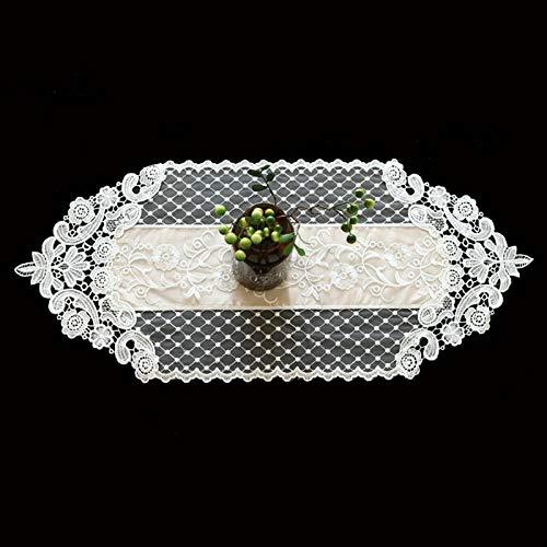 QL Caminos De Mesa Corredor de mesa de encaje Blanco con clase para boda rústica Boda de boda Ducha de ducha, decoraciones de la mesa de recepción de la vendimia rosa decoración de los corredores de l