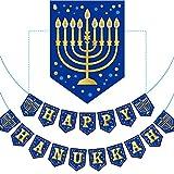 Happy Hanukkah Banner Chanukah Letter Banner Decoration Hanukkah Party Decoration Paper Letter for Hanukkah Party Decoration Supply