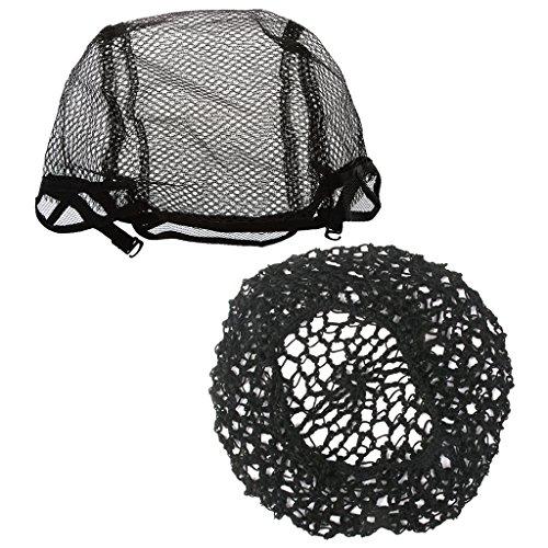 MagiDeal Bonnet De Perruque Dentelle Élastique Cahpeau Crochet Femme Cheveux Extensions Accessoire