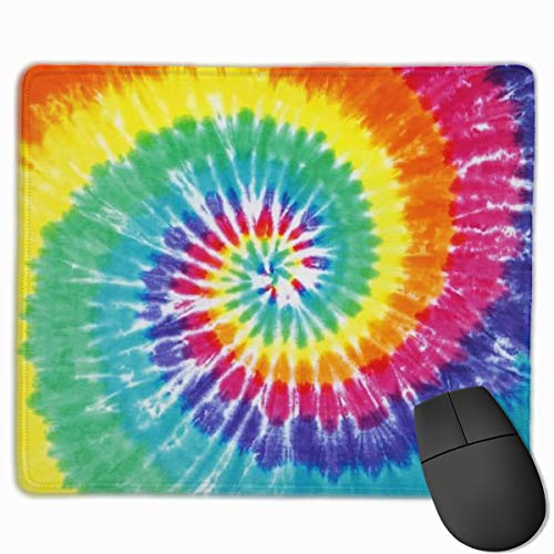 Mouse Pad Tye Dye Non-Slip Rubber Gaming Mouse Mat Rectangle Mousepad for Computers Laptop