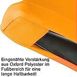 Gräfenstayn® Stretch Stehtischhusse Diana mit Öko-Tex Siegel, Verstärkung im Fußbereich, 40°C Maschinenwäsche in vielen Farben und Größen Ø60-65cm / Ø70-75cm / Ø80-85cm (Orange, Ø60-65cm) - 6