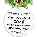 Touber Personalized Quarantine 2020 Ceramic Christmas Ornaments/Merry Christmas Ornaments Gifts/Christmas Tree Decoration