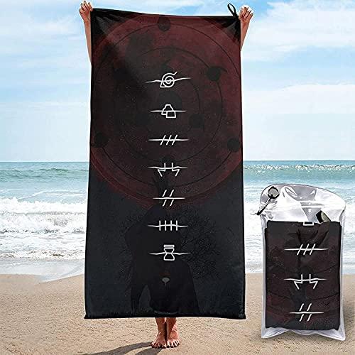 WFQTT Naruto – Toalla de mano para niños, sauna, playa, viaje, regalo de microfibra (90 x 180 cm)