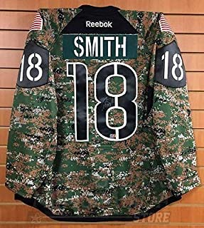 Reilly Smith Boston Bruins Signed Autographed Game Worn Military Warmup Jersey