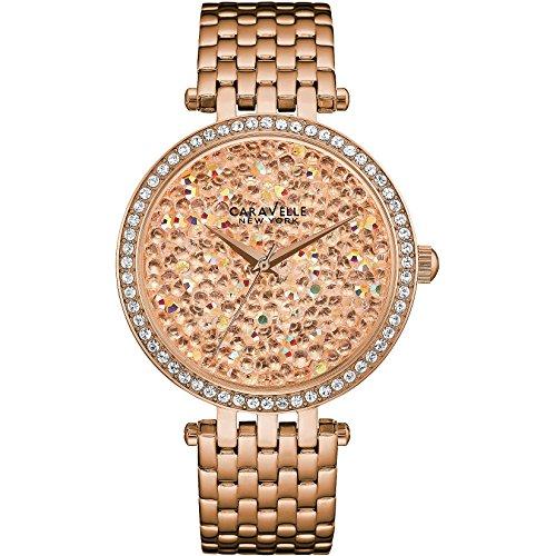 Caravelle New York Damen-Armbanduhr Analog Quarz One Size, rosé, rosé