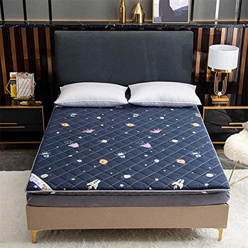 LIMIAO Colchón de Espuma con Memoria para dormitorios, colchón Acolchado Tatami, colchones japoneses de futón, Lavable a máquina,5s,120x200cm