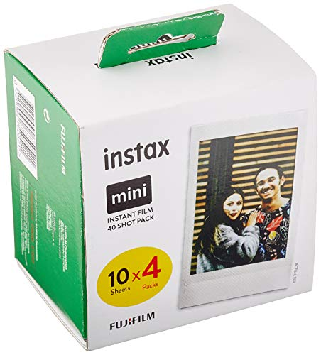 Fujifilm Instax Mini Instant Film, 1x 40 Blatt (40 Blatt), Weiß [Amazon Exclusive]