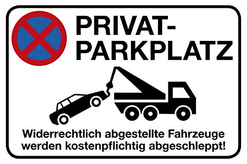 Privatparkplatz Schild | 30 x 20 cm |