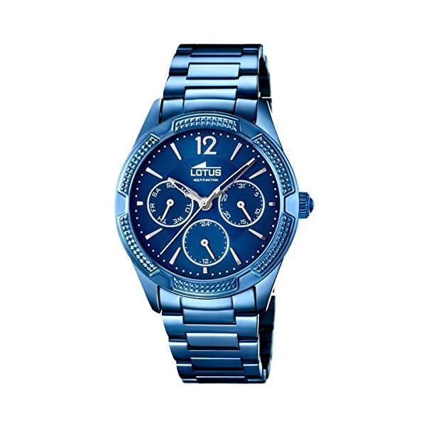 Lotus Trendy 18248/3 – Reloj Mujer Acero Multifunción Azul