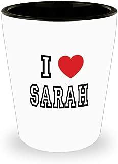 White Ceramic Shot Glass I Love Sarah Mug Lover Gift Coffee Funny Idea Tea Cup Cute Ceramic Present Gag,al3063