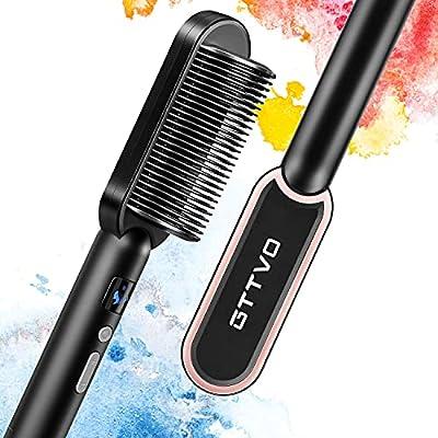 Amazon - 69% Off on Hair Straightener Brush, Ionic Straightening Brush with Anti Scald
