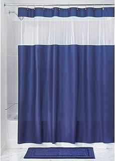Interdesign Vinyl Hitchcock Blue 72 inch x 72 inch Shower Curtain