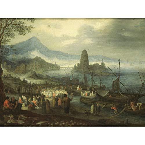Brueghel The Sermon On Sea of Galilee Unframed Wall Art Print Poster Home Decor Premium