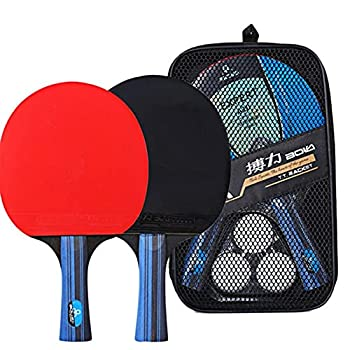 Ping Pong Set Professional Tabletop Table Tennis Set Includes 2 Ping Pong Paddles 3 pcs Balls Attach to Any Table Surface for All Ages
