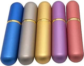 Healifty 5PCSエッセンシャルオイルチューブアロマセラピーボトル鼻吸入器綿ウィック(ランダムカラー)