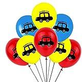 JSJJARD Globos Niños 1pc vehículo de Serie Feliz Cumpleaños Globos Partido decoración del Tanque de la Motocicleta Regalo del bebé vagón de Tren de Camiones contra Incendios (Color : Brown)