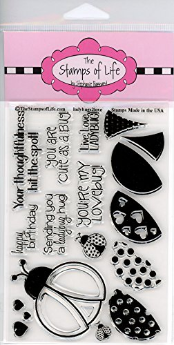 Super Cute Lady-Bug Stamps for Card-Making and Scrapbooking Supplies by The Stamps of Life - LadyBugs2Love