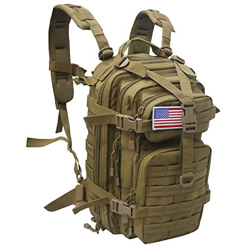 Small 30L Rucksack Military Tactical Backpack Flag Patch...