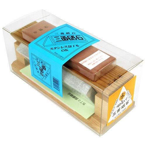 Piedra de afilar de tres lados #250# 1000# 4000 japonés