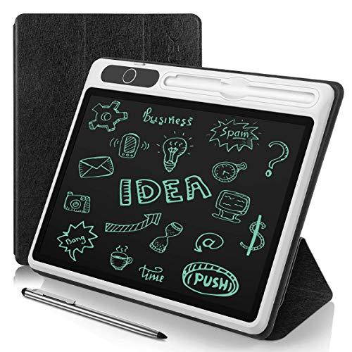 AGPTEK Tavoletta Grafica LCD Scrittura 10,1 Pollici,Tablet di scrittura Portatile per Affari con Tasca Protettiva e Penna in Metallo,Lavagna da Disegno Magnetica per Bambini,Ufficio,Riunioni,Appunti