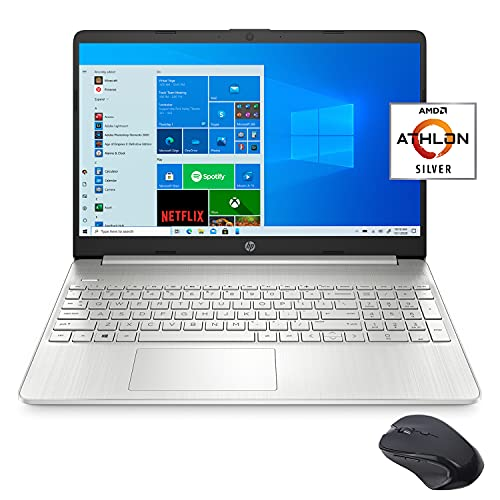 Hp 15. 6' fhd slim and light laptop for business and student, amd athlon silver 3050u, 16gb ram, 256gb ssd, usb-c, hdmi, wi-fi, bluetooth, webcam, m-ytrix wireless mouse, 1 year microsoft 365, win 10