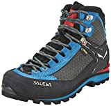 SALEWA Crow Gore-Tex, Scarpe da Arrampicata Alta Donna, Blu (Black/hot Coral), 42 EU