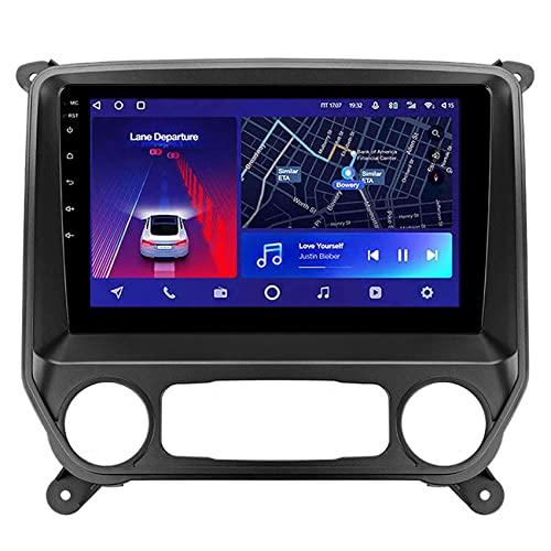 ADMLZQQ Android 10 Radio de Coche para Chevrolet Silverado 3 GMTK2 2013-2019 Autoradio GPS Bluetooth/WiFi/Espejo Enlace 4G Control del Volante Cámara Trasera,8core 4g+WiFi: 4+64g
