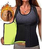 Chaleco Sauna Mujer Fajas Reductoras Adelgazantes Mujer Compresion para Adelgazante Sudoración para Deporte Fitness (Color : Black, Size : L)