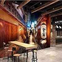 カスタム3D壁壁画写真壁紙レトロノスタルジックシティストリートウォールクロスレストラン寿司レストランウォール家の装飾-350x250cm