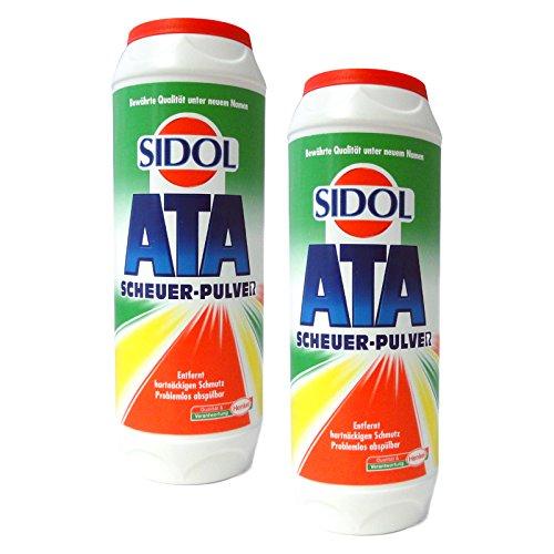 2er Pack Sidol Ata Scheuer-Pulver, Allzweckreiniger, 2 x 500 g, Reinigungspulver, Reinigungsmittel