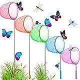 Vintoney Giocattoli Bambini Rete Farfalle 5 Pz Retini Colorati per Catturare Farfalle Insetti Piccoli Pesci Reti Telescopiche Allungabili Gioco Bambini per Giardino Parco attività all'Aperto