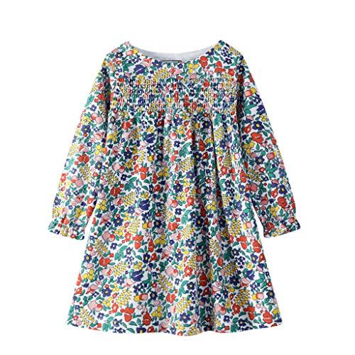 YAAY 0-7 aos, hermosas flores rotas en el sol temprano, ropa de vestido de princesa de punto de manga larga para nios y adolescentes