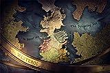 Puzzle 1000 Piezas puzzles para adultos, Mapa del juego del trono...