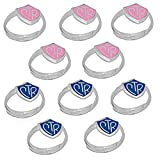H14B - H14P Size Adjustable 10 Pack Alloy Blue and Pink CTR Ring Mormon LDS Unisex One Moment In Time