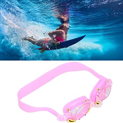 FOLOSAFENAR Schwimmbrille, Anti-Fog-Brille Süße Schwimmbrille für Kinder(Pink Crab, Love Type)