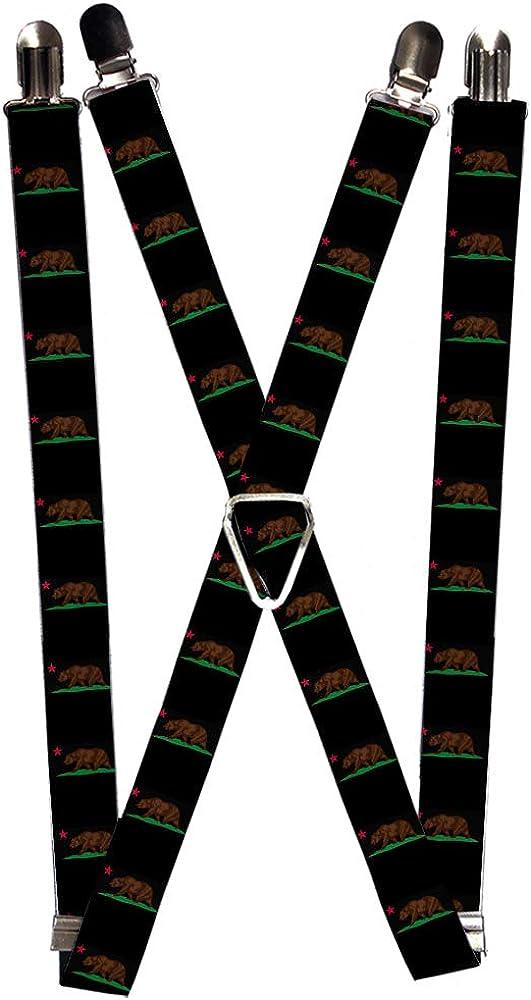 Buckle-Down Men's Suspender-California, Multicolor, One Size