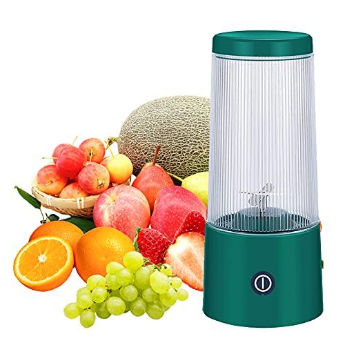 Staright Exprimidor portátil de 350 ml, taza mezcladora eléctrica, recargable por USB, mini batidora, batidora, máquina de frutas y verduras de mano, exprimidor de batidos para viajes al aire libre, o