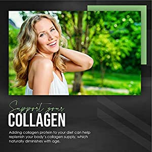 Multi Collagen Protein Powder - 5 Types of Food Sourced Collagen Peptides - Hydrolysed Grass Fed Bovine, Wild Caught Marine & Free-Range Chicken, Supports Joints, Skin and Nails, 400g