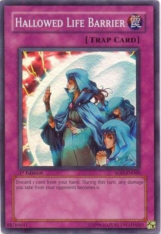Yu-Gi-OH.–Hallowed Life Barrier (sod-en060)–Soul of The Duelist–1st Edition–Rare by Yu-Gi-Oh.