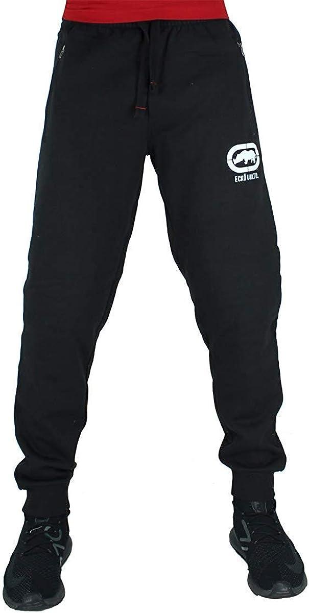 Ecko Hombre Algodón de Diseño Pantalones Joggers, Negro, Azul, Gris