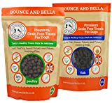 Bounce and Bella Grain Free Training Treats made with Freshly Prepared Ingredients (1 Poultry & 1 Fish, 2 Pack 1000g)