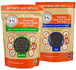 TOP QUALITY! If you've been looking for premium natural dog treats that won't break the bank then your search is over! That's because the only ingredients in our training treats are freshly prepared chicken, duck and turkey meat (80%) and potato & sw...