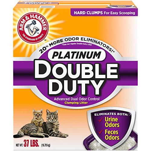 Price comparison product image ARM & HAMMER Platinum Double Duty Clumping Cat Litter,  37lb
